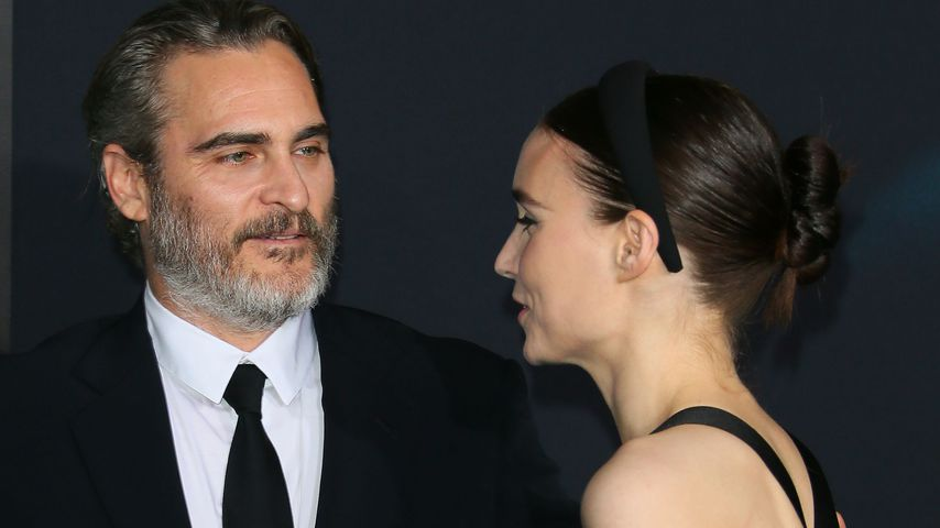 "Joaquin Phoenix und Rooney Mara auf der ""Joker""-Premiere in Hollywood, Ende September 2019"