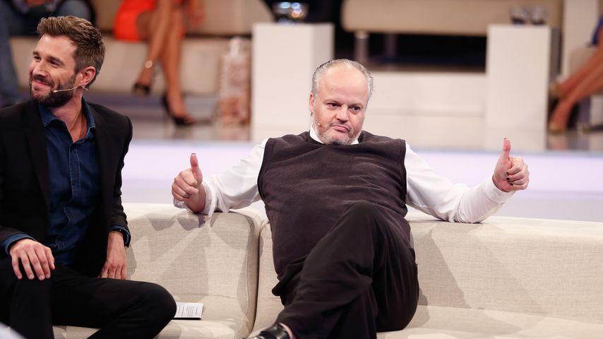 """Jochen Schropp und Hubert Kah im """"Promi Big Brother""""-Finale, 2014"""