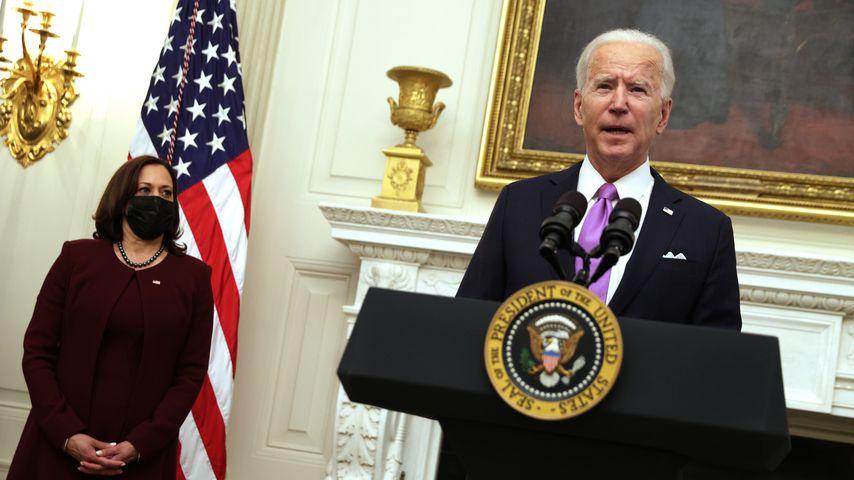 US-Vizepräsidentin Kamala Harris und US-Präsident Joe Biden, Januar 2021