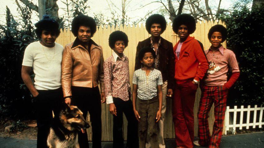 Joe Jackson mit seiner Familie