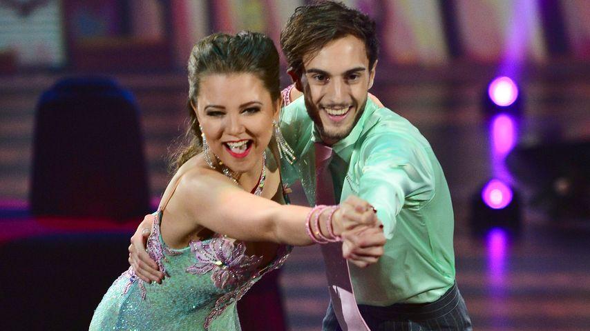 """Joelina Drews und Marc Aurel Zeeb in der TV-Show """"Stepping Out"""" im Oktober 2015"""
