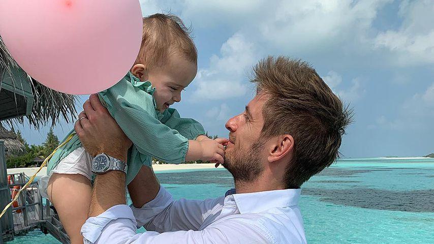 Jörn und seine Tochter Delia Schlönvoigt auf den Malediven