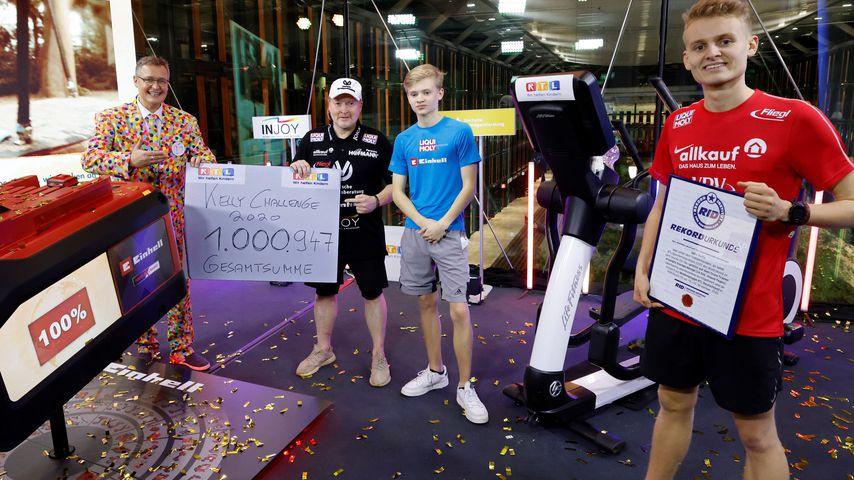 Joey Kelly (2.v.l.) für den RTL-Spendenmarathon 2020