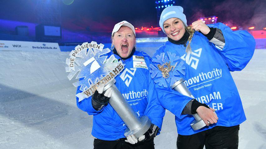 """Joey Kelly und Miriam Höller, """"ProSieben Wintergames""""-Sieger 2018"""