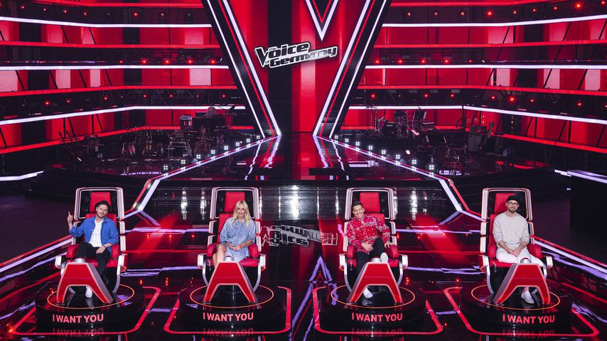"""Johannes Oerding, Sarah Connor, Nico Santos und Mark Forster, """"The Voice of Germany""""-Coaches 2021"""