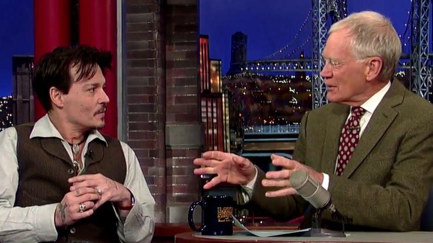Johnny Depp und David Letterman