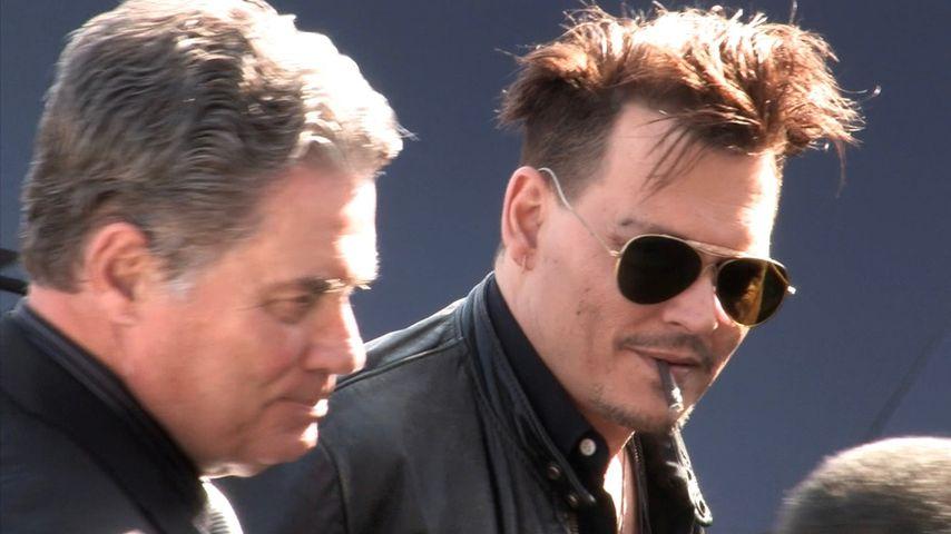 Neuer Look: Hier litt Johnny Depp schon an Herzschmerz