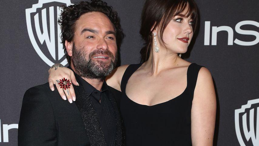 Johnny Galecki und Alaina Meyer bei einer Golden Globes After Party in Los Angeles 2019