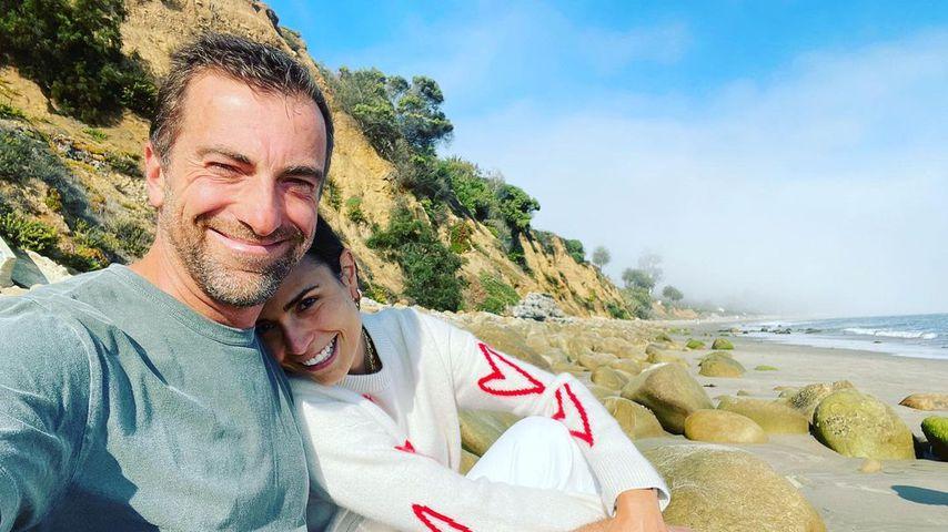 Jordana Brewster und ihr Partner kurz nach ihrer Verlobung