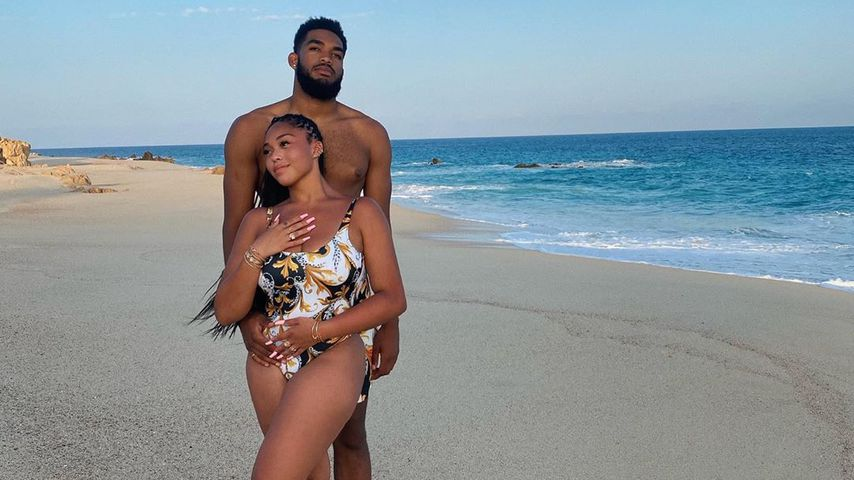 Jordyn Woods und Karl-Anthony Towns im September 2020