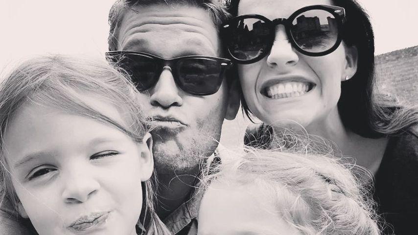 Joscha Kiefer und Kristina Dörfer mit ihren Töchtern