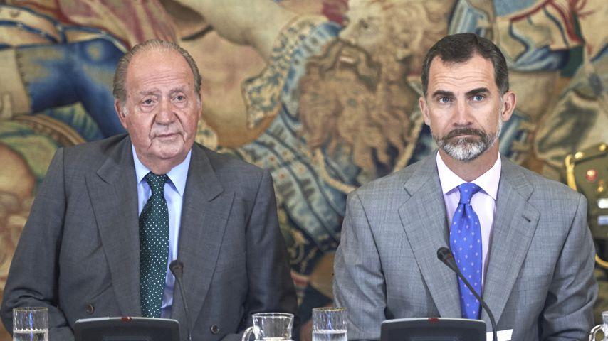 König Juan Carlos und König Felipe
