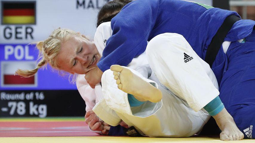 Heftige Szene: Deutsche Judo-Kämpferin bewusstlos gewürgt!
