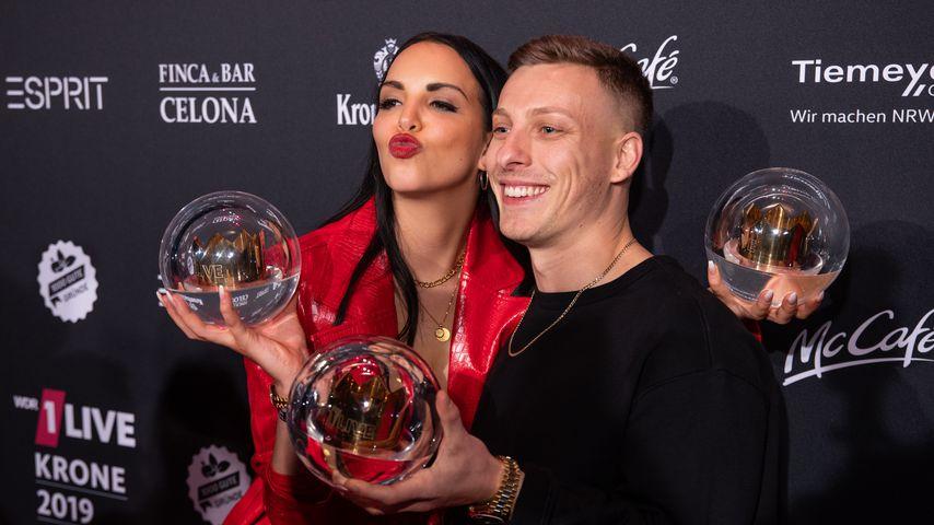Juju und Felix Lobrecht bei der 1Live Krone 2019