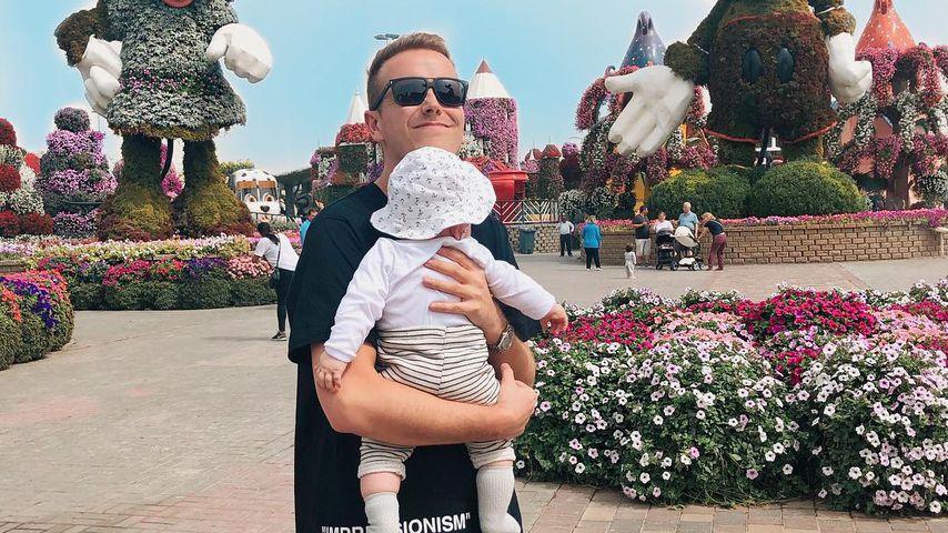Julian Claßen mit seinem Sohn