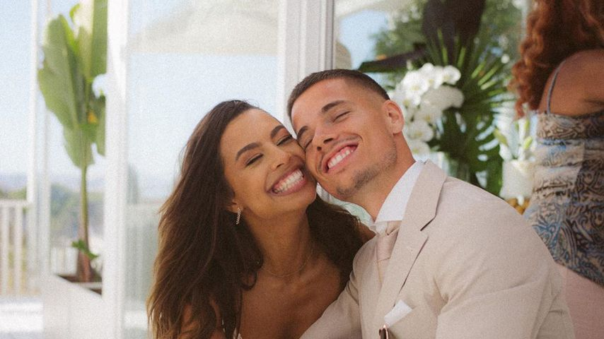 Julian Weigl mit seiner Frau Sarah