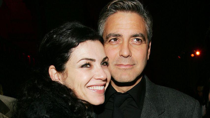 """Julianna Margulies und George Clooney bei der """"Syriana""""-Premiere, 2005"""