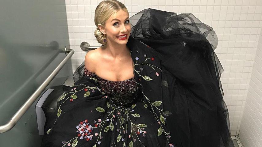 Im Mega-Kleid aufs Klo: Julianne Hough übt für ihre Hochzeit