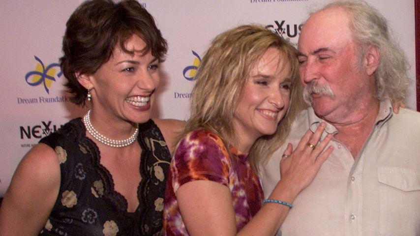 Julie Cypher, Melissa Etheridge und David Crosby, 2000