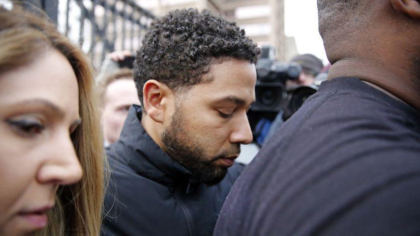 Jussie Smollett verlässt das Cook County Gefängnis in Chicago