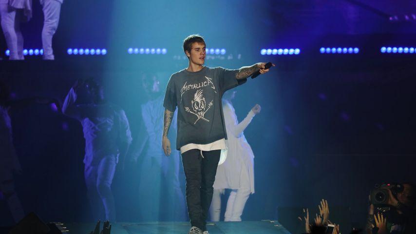 Justin Bieber auf der Bühne in Bologna