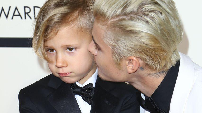 Süße Grammy-Show: Justin Bieber posiert mit Bruder Jaxon (6)