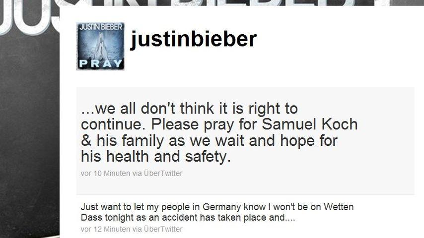 Justin Bieber über Wetten, dass...?-Abbruch