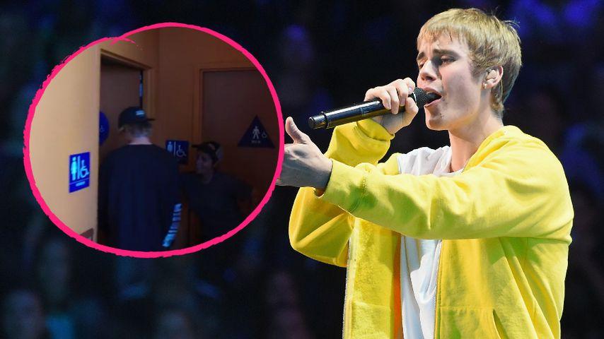 Gang aufs Damen-Klo: Hier pinkelt Justin Bieber fremd!
