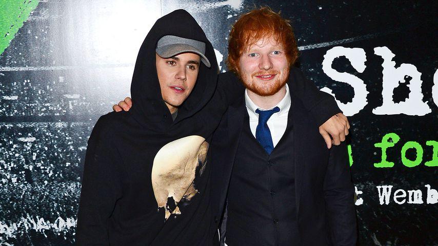 Autsch! Ed Sheeran haut Justin Bieber Schläger ins Gesicht