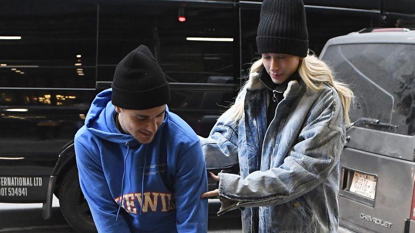 Justin Bieber und Hailey Bieber im Februar 2019