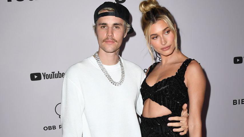 """Justin Bieber und Hailey Bieber bei der """"Justin Bieber: Seasons""""-Premiere in L.A. im Januar 2020"""