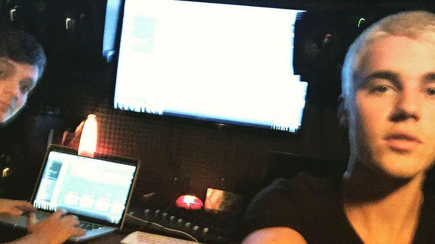 Pause nur fake? Justin Bieber im Studio mit DJ Martin Garrix
