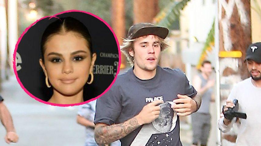 Wegen Sel? Justin Bieber sprintet den Paparazzi davon!