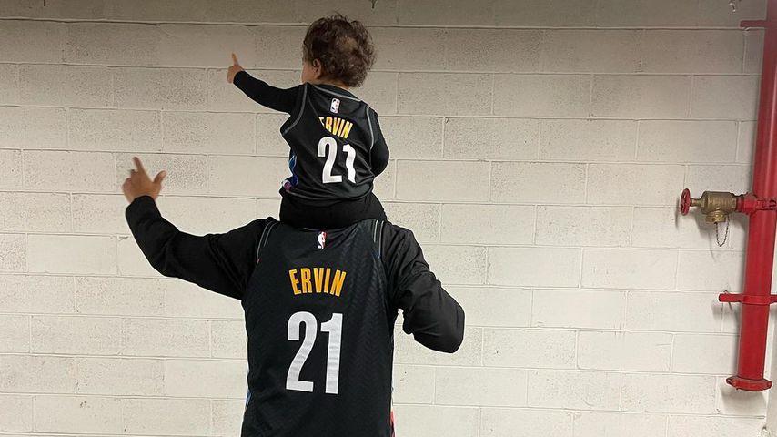 Justin Ervin mit seinem Sohn Isaac Menelik Giovanni