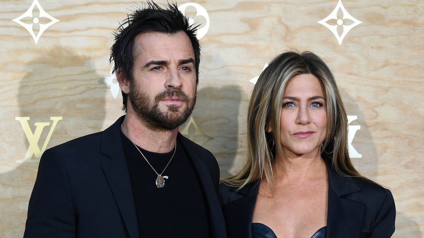 Justin Theroux und Jennifer Aniston bei einem Louis-Vuitton-Launch