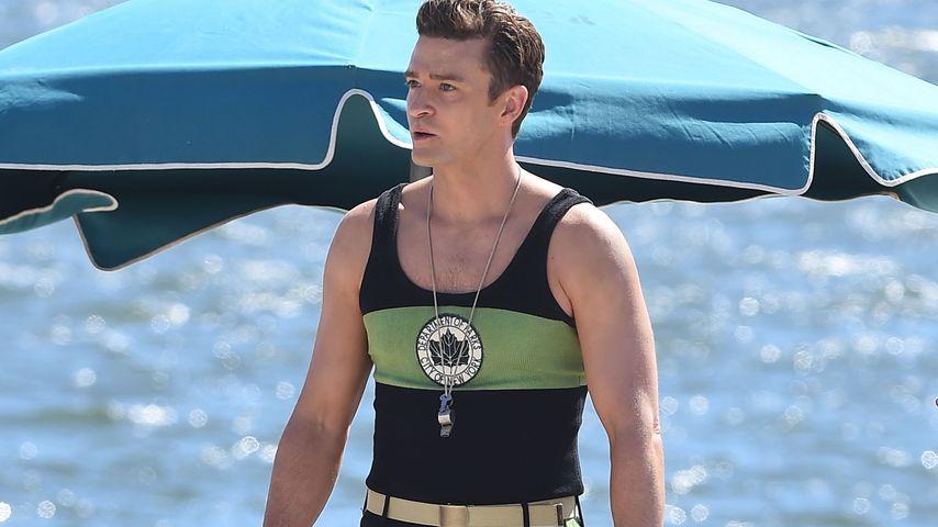 Heißer Lifeguard: Justin Timberlake im knappen Bade-Höschen