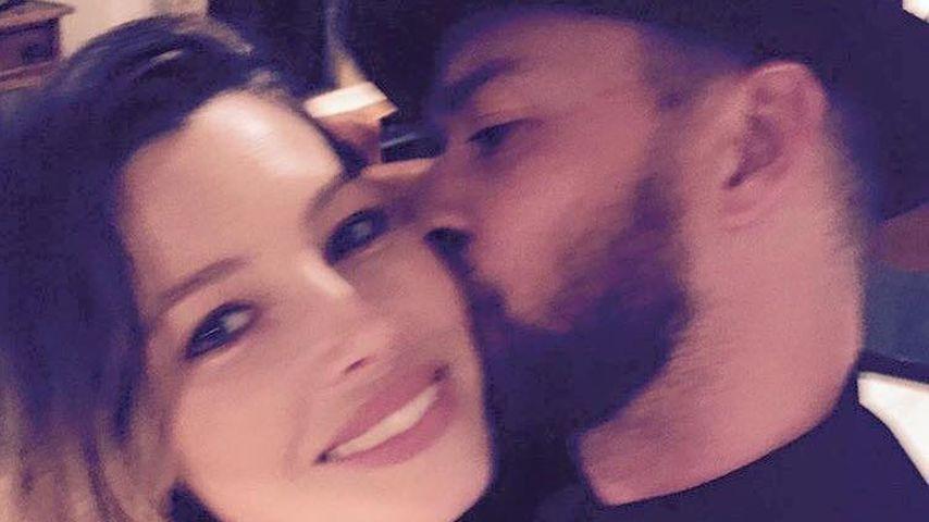 Geburtstagskuss: Justin Timberlake knutscht seine Jessica!