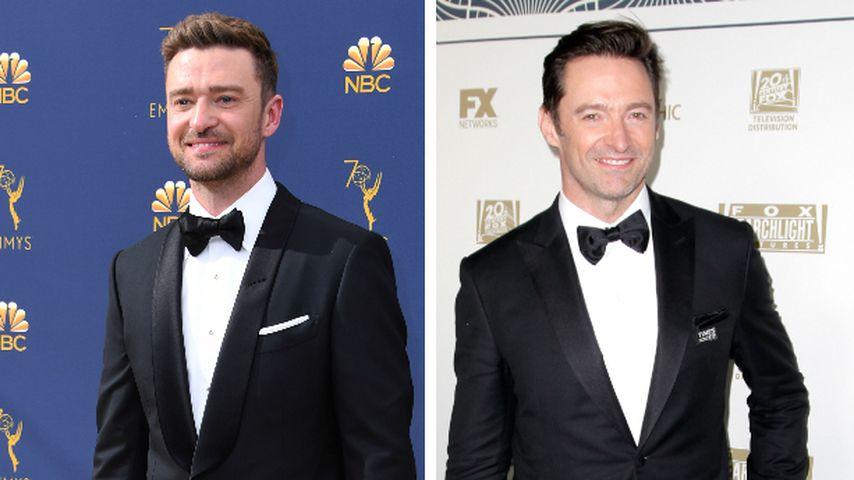Justin Timberlake-Show: Hugh Jackman steht in erster Reihe