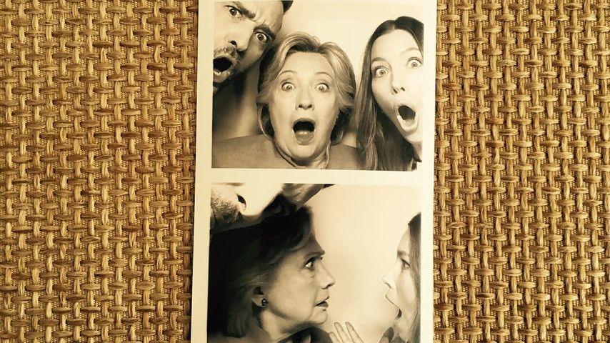 Justin Timberlake und Jessica Biel mit US-Präsidentschaftskandidatin Hillary Clinton