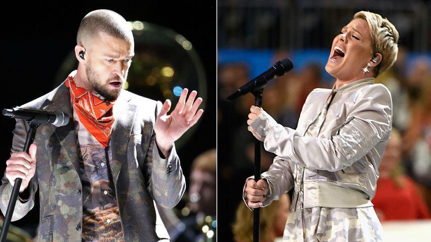 Konzert-Absagen-Hate: Justin Timberlake unterstützt Pink!