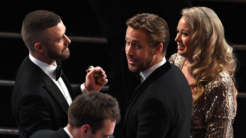 Justin Timberlake und Ryan Gosling bei der Oscar-Verleihung 2017