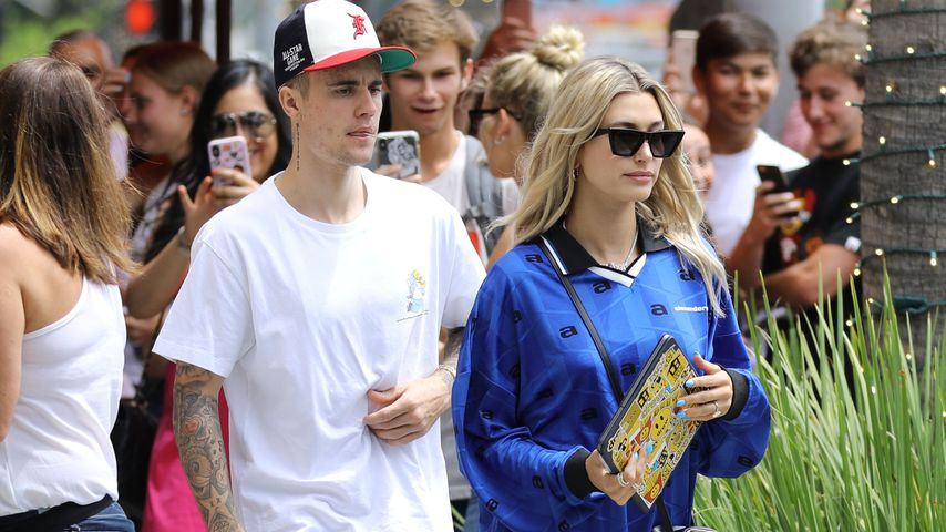 Justin und Hailey Bieber im August 2019 in Beverly Hills