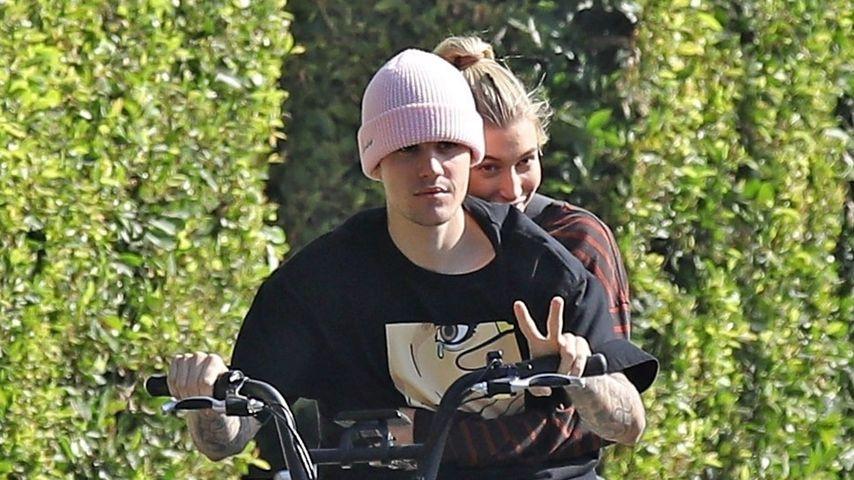 Rad-Date: Justin Bieber düst mit Hailey durch die Gegend!