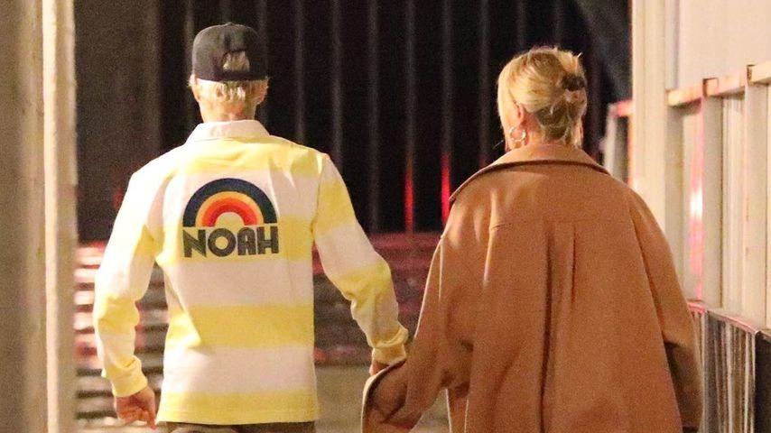 Justin und Hailey Bieber in LA im Januar 2020