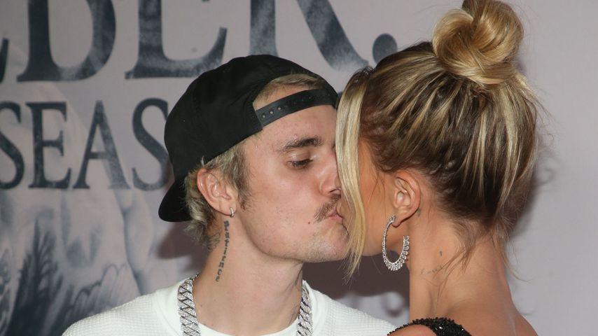 Justin und Hailey Bieber in Westwood im Januar 2020