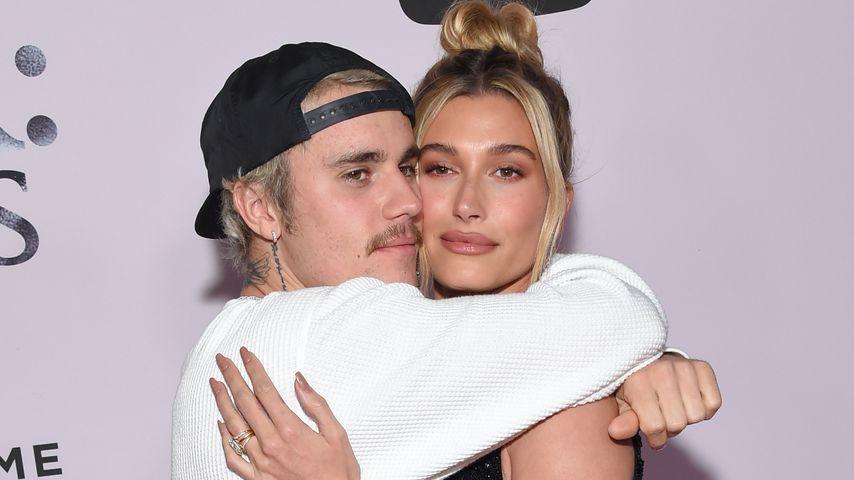 """Justin und Hailey Bieber bei der Premiere von """"Justin Bieber: Seasons"""" in L.A. im Januar 2020"""