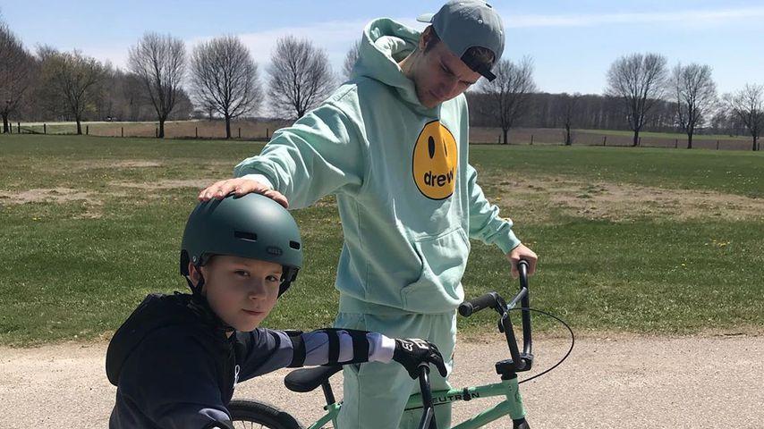 Justin und Jaxon Bieber