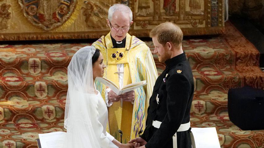 Justin Welby, der Erzbischof von Canterbury, Herzogin Meghan und Prinz Harry