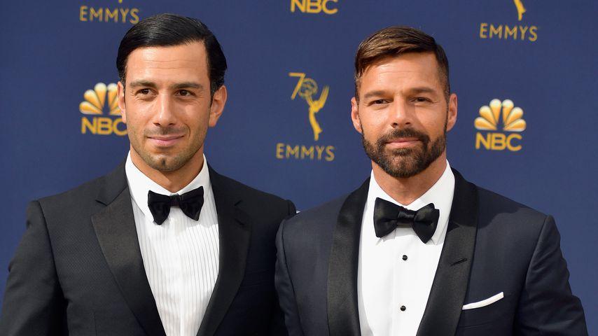 Jwan Yosef und Ricky Martin bei der 70. Verleihung der Emmy Awards