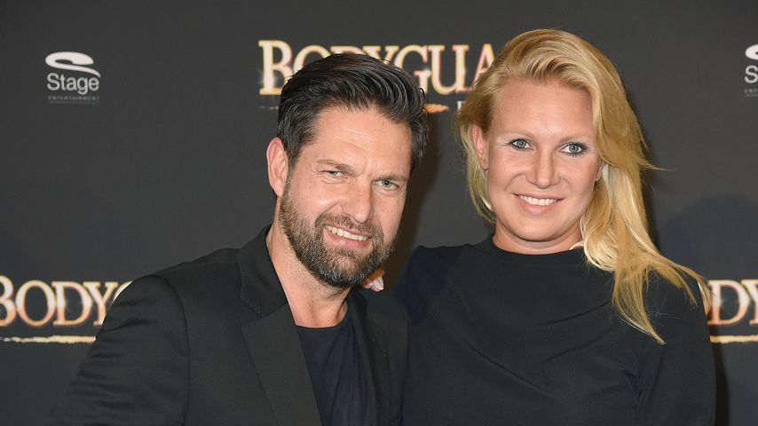 """Kai Schwarz und Magdalena Brzeska bei der Musical-Premiere von """"Bodyguard"""""""